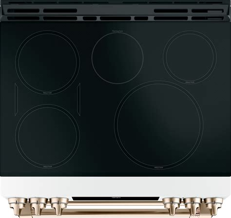 cafe range induction double slide oven matte ge