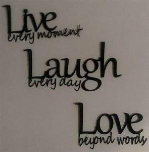 Live laugh love metal wall art black for Live love laugh wall art