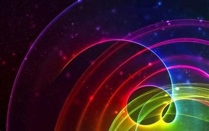 Lines Bergerak Glow Circles Abstract Cahaya Wallpapers