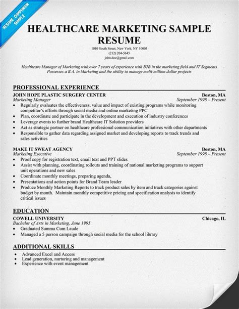 Healthcare Project Manager Resume Objective