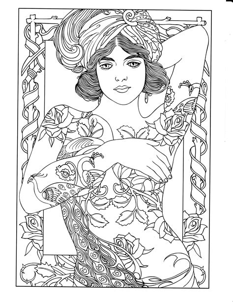 Printable coloring page   Tattoo coloring book, Dover