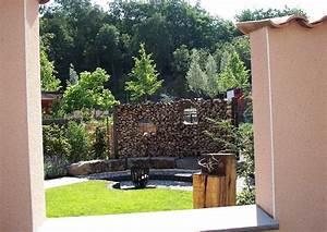 Ideen Reihenhausgarten Sichtschutz : familiengarten reihenhausgarten holzstapel sichtschutz ~ Lizthompson.info Haus und Dekorationen