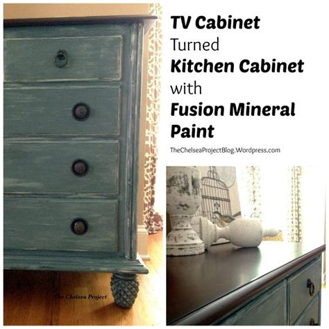 fusion mineral paint kitchen cabinets tv cabinet turned kitchen cabinet with fusion mineral