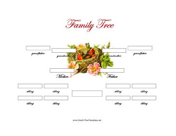 generation family tree  siblings template