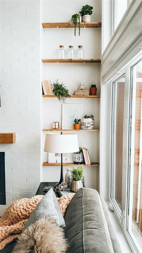 styling living room shelves  blush home