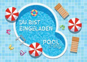 einladungskarten einladungen kinder geburtstag schwimmbad