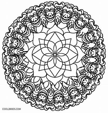 Kaleidoscope Coloring Pages Flower Quilt Template Printable