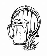Beer Barrel Mug Coloring Pages Drawing Tocolor Getdrawings Mugs Paint Place Sip sketch template