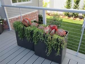 Rectangular, Planters, On, Contemporary, Porch