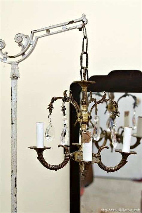 Hanging From The Chandeliers by Junk Chandelier Swings From Antique L Stand Petticoat