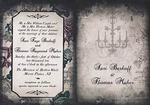 12 spooky wedding invites creative market blog With gothic inspired wedding invitations