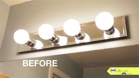 lighting fixtures bathroom makeover tip replace your bathroom lighting