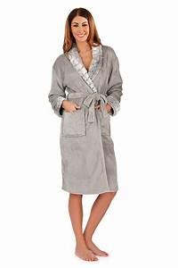 Luxe pour dames entier peignoir velour peignoir robe de for Robe de chambre luxe femme