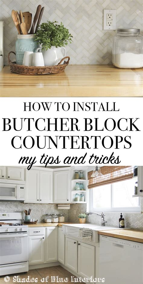 how to install countertop how to install butcher block countertops