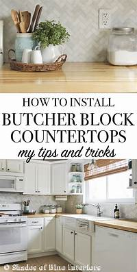 how to install a countertop How to Install Butcher Block Countertops