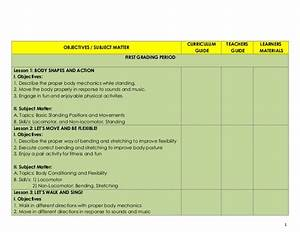 K To 12mapeh  Pe  Iii Complete Objectives And Subject Matter