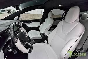 Pearl White Tesla Model X - White Interior – TSportline.com - Tesla Model S, 3, X & Y Accessories