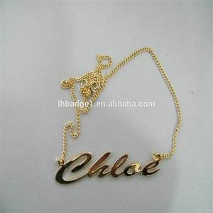 2014 gold chain letter necklacecustom metal letter With custom letter chains