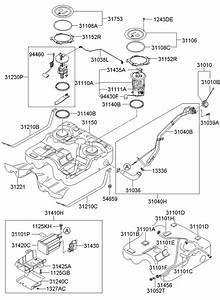 Hyundai Santa Fe Hose  Clamp  Vent  Clip  Fuel Tank  Vapor