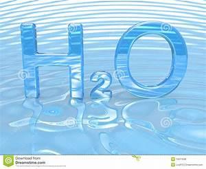 H2o Het Symbool Van Het Water Stock Illustratie