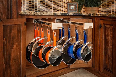 pot and pan cabinet organizer column space saving ideas for your kitchen current in