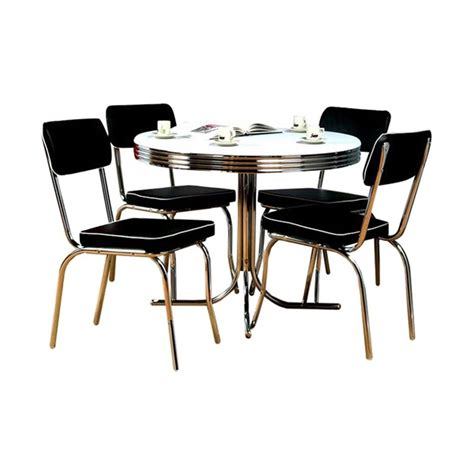 black round dining table and chairs shop tms furniture retro black dining set with round