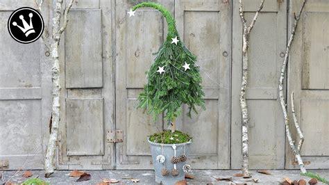 diy weihnachtsdeko selber machen tannenbaum mit