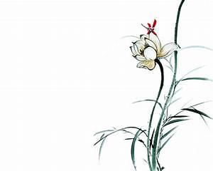 山水画图片之水墨荷花图片高清大图预览1280×1024_风景壁纸下载_美桌网
