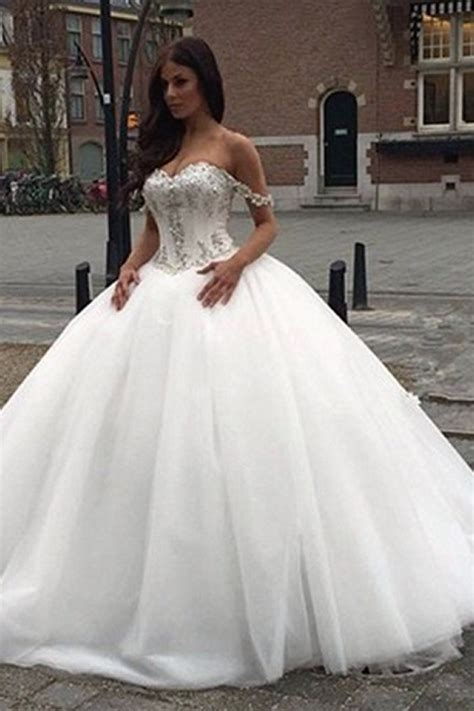 off the shoulder princess wedding dress 2018 sweetheart