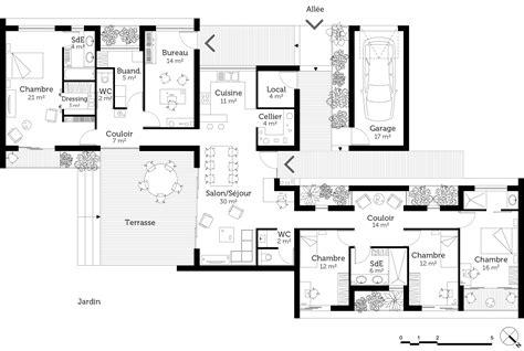 plan maison 2 chambres plain pied plan maison plain pied 2 chambres 3d maison moderne