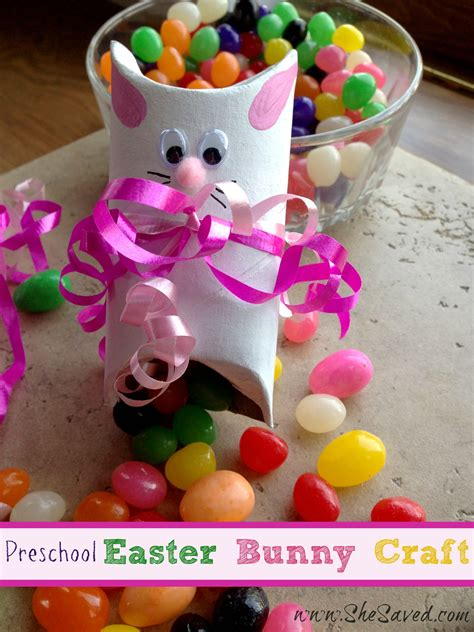 preschool easter bunny crafts shesaved 174 366 | Preschool Easter Bunny Craft