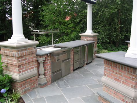 what are the best outdoor kitchen countertop finishes nj