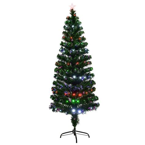 6ft led fiber optic artificial christmas tree 8 options