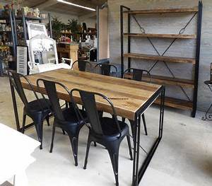 1000 images about style industriel on pinterest With table salle a manger style industriel
