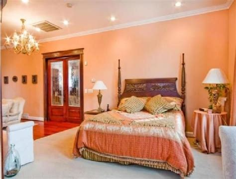 images of peach bedrooms with brown furniture google