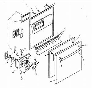 Door Assy Diagram  U0026 Parts List For Model Shx46a06uc14