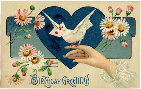 vintage birthday illustration  graphics fairy
