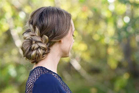 french braid updo cute girls hairstyles