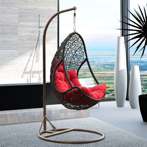 country style multicolor synthetic rattan garden swing