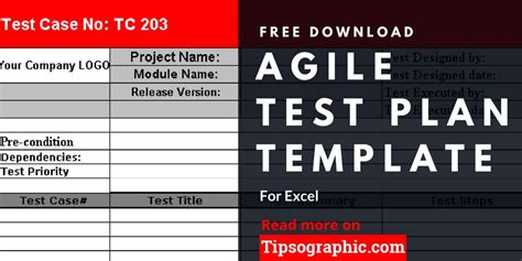 agile test plan template  excel