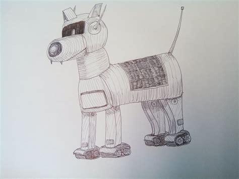 Drawing A Robot Dog.......dibujando Un Perro Robot.