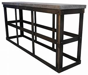 Modern Industrial Reclaimed Wood and Rustic Metal Console ...