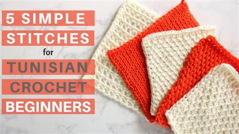 simple stitches  tunisian crochet beginners youtube