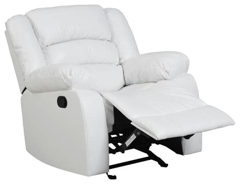 bonded leather rocker recliner traditional rocking