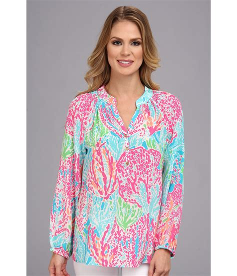 lilly pulitzer blouse lilly pulitzer elsa top zappos com free shipping both ways