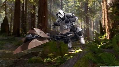 Scout Trooper Endor Sk Studios Speederbike Background