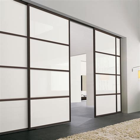 interior sliding door   minimal glass neve
