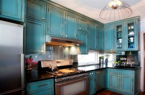 Permalink to Antique Teal Kitchen Cabinets