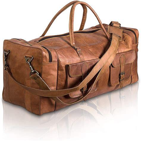 Leather Duffel Bag 30 inch Large Travel Bag Gym Sports ...