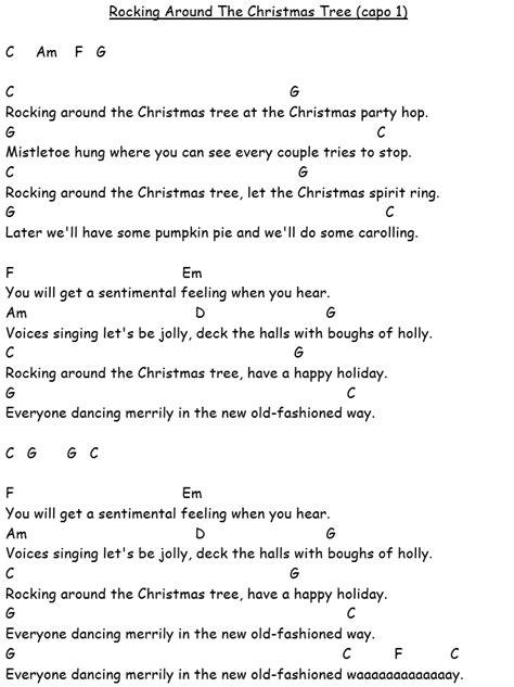 Rockin Around The Christmas Ukulele Chords